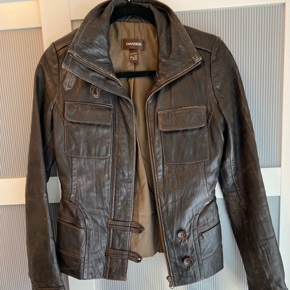 Daniel brown leather jacket